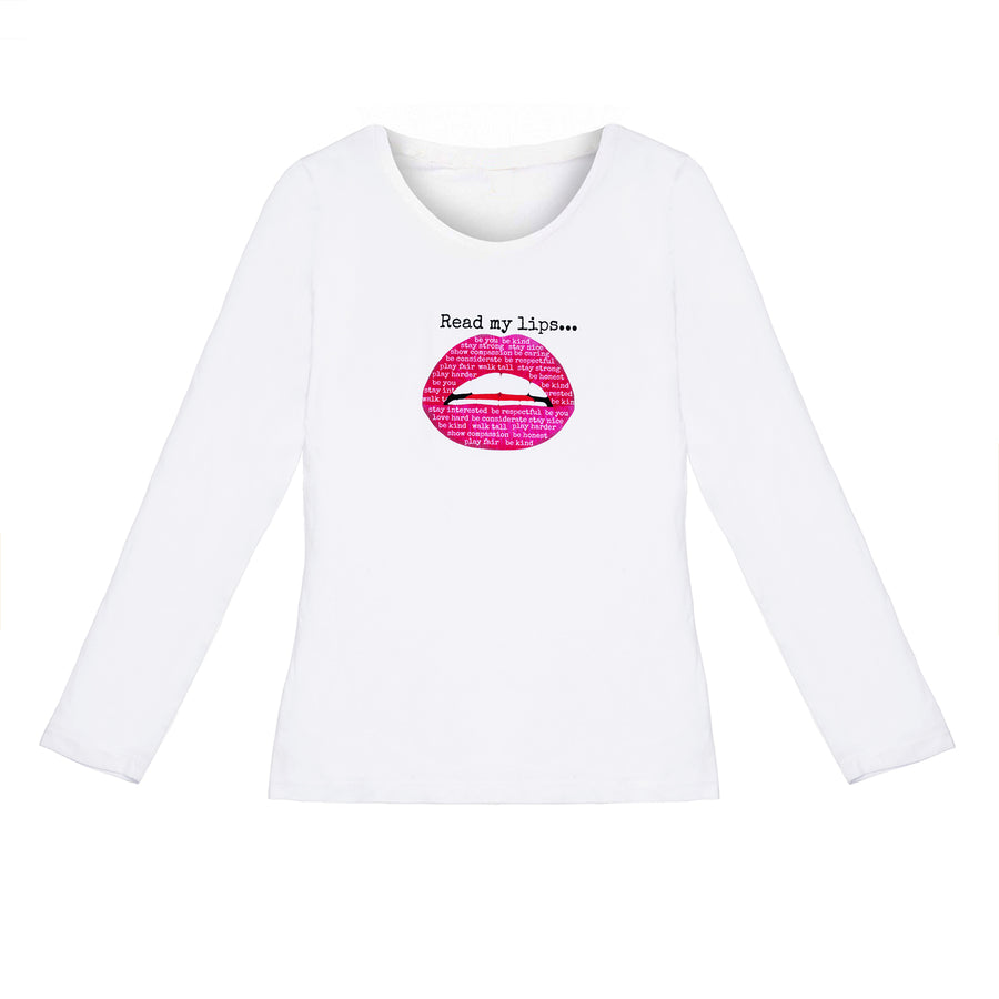 Kate Thornton x Gina Potter 'Words to Live By' Pink Lips T-Shirt