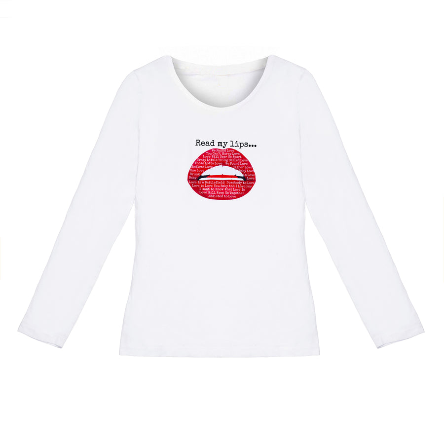 Kate Thornton x Gina Potter 'Words of Love' Red Lips T-Shirt