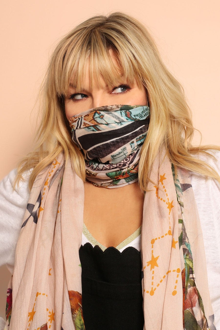 Kate Thornton Pink 'Moral Compass' Lightweight Scarf