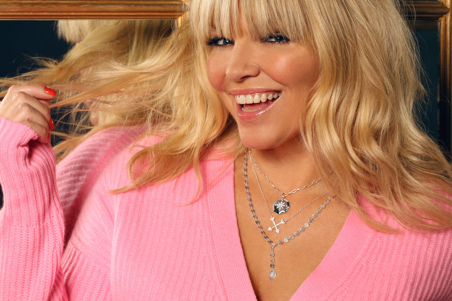 Kate Thornton 'Follow Your Heart' Silver Compass Necklace
