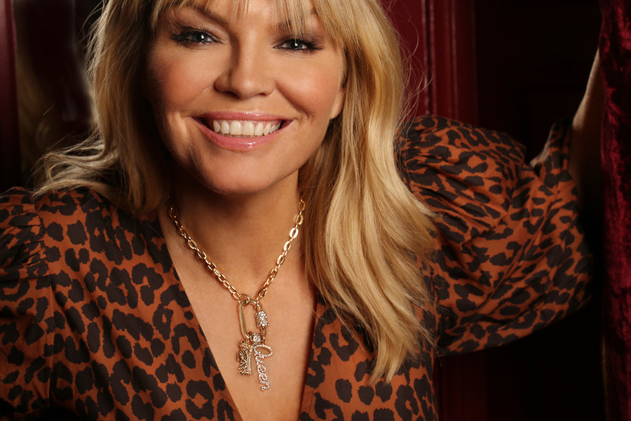 Kate Thornton 'Queen' Gold Charm Necklace