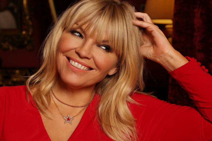 Kate Thornton 'Shining Star' Layered Red and Gold Necklace
