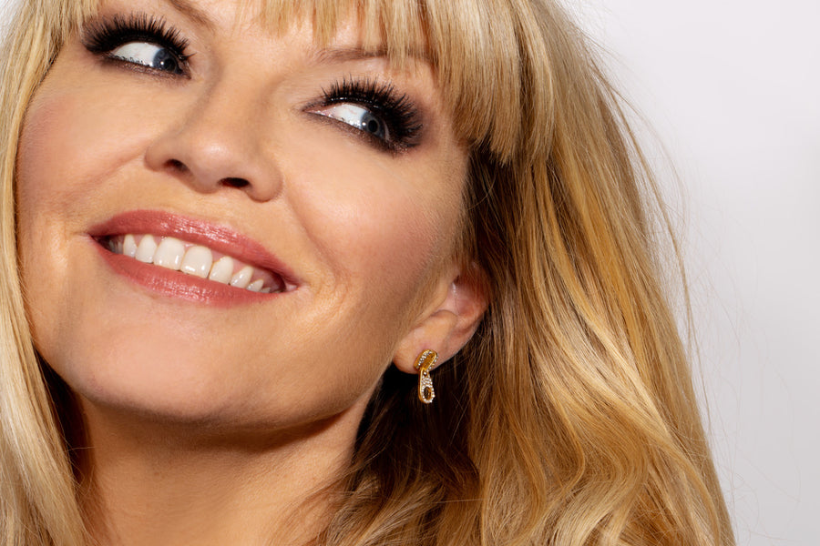 Kate Thornton Gold Zip Earrings