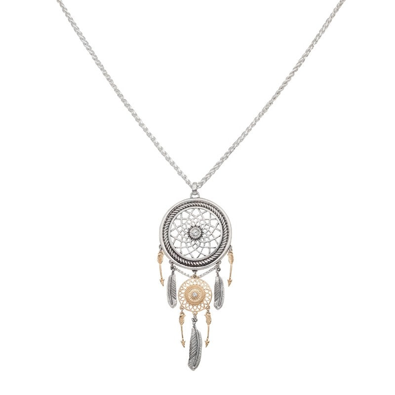 Ava Long Dreamcatcher Necklace