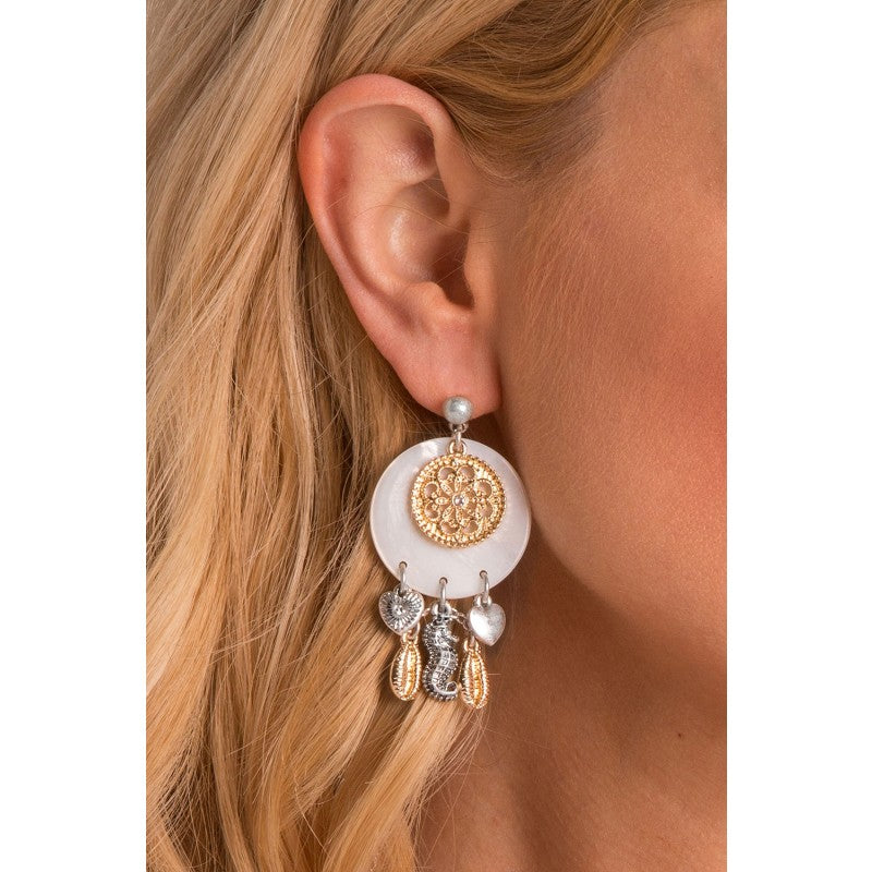 Seychelles Beachcomber Shell Earrings