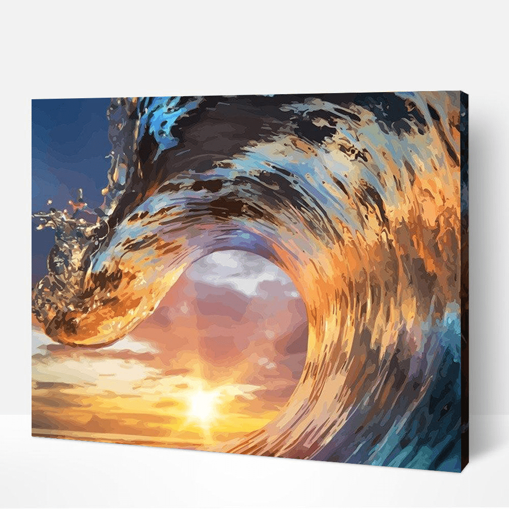 Wave Paint By Number Kit