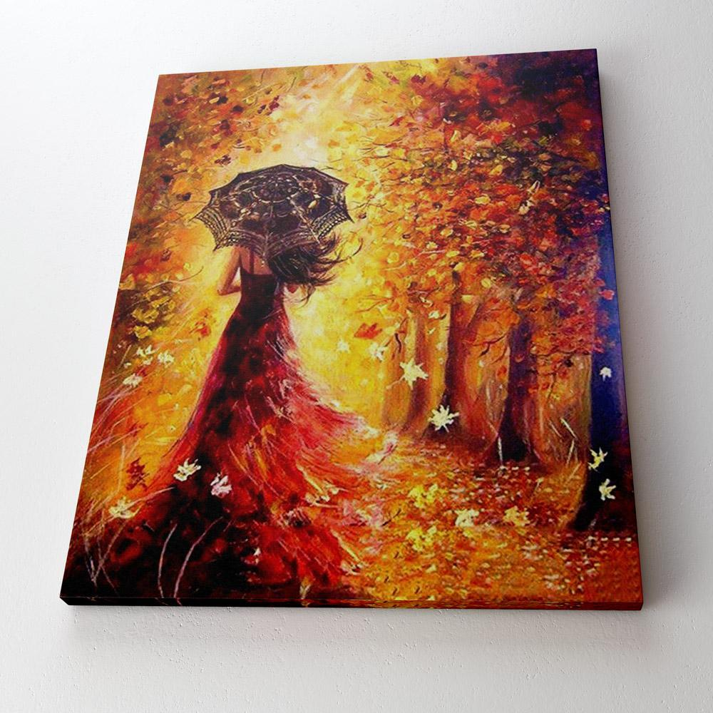 Autum Woman - Paint By Numbers