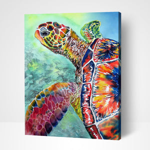 Sea Turtle Paint By Number Painting Kit