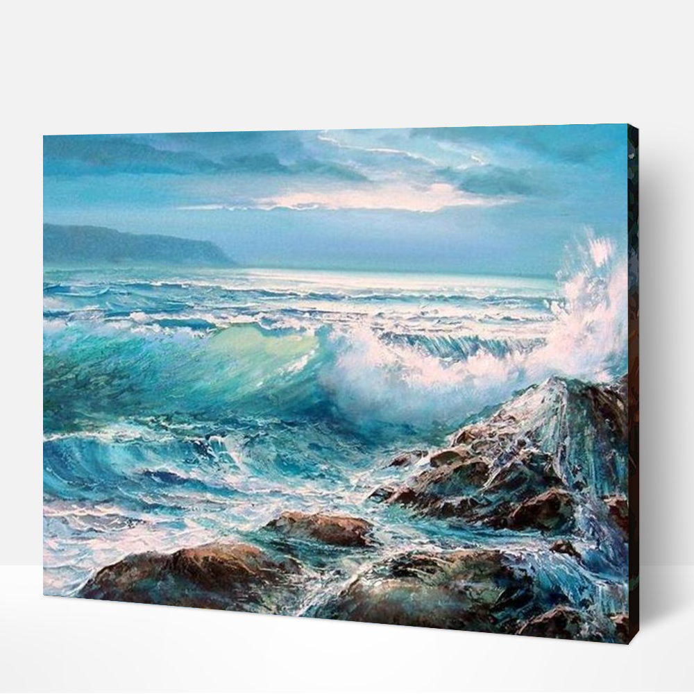 Crashing Waves Paint By Number