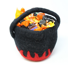 Load image into Gallery viewer, Felt Cauldron in Black - Global Groove