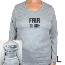 Load image into Gallery viewer, Fair Trade Fitted Tee Shirt with Long Sleeve - Freeset
