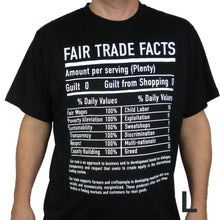 Load image into Gallery viewer, Unisex Fair Trade Tee Shirt Fair Trade Facts - Freeset