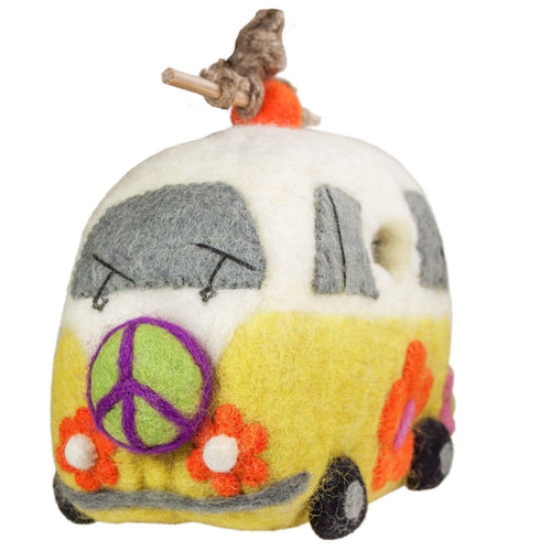 Felt Birdhouse - Magic Bus - Wild Woolies