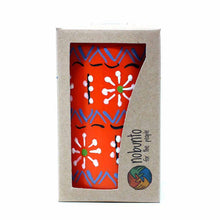 Load image into Gallery viewer, Hand Painted Candles in Orange Masika Design (pillar) - Nobunto