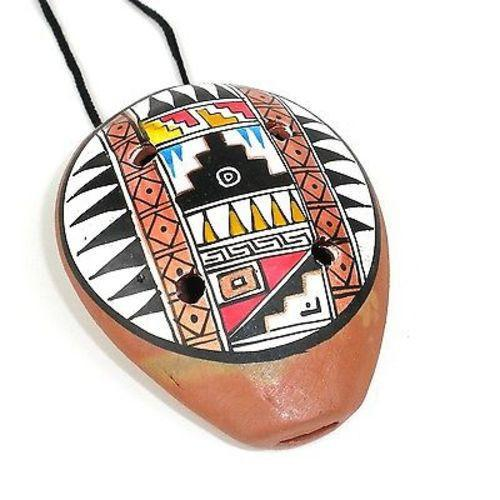 Traditional Ceramic Ocarina Necklace Handmade and Fair Trade