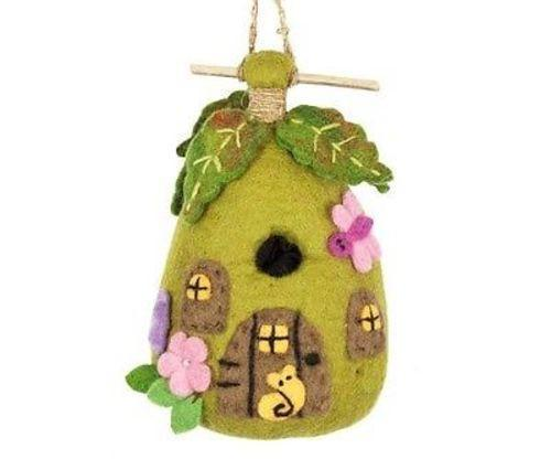 Felt Birdhouse fairy House Handmade and Fair Trade
