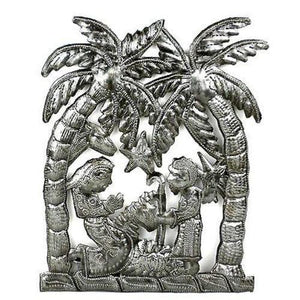 Palm Tree Nativity Wall Art Handmade and Fair Trade