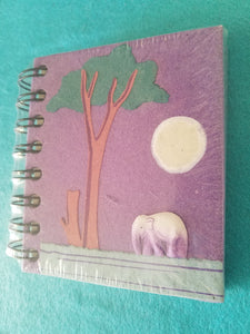 Elephant Poo Notebook- Purple Elephant