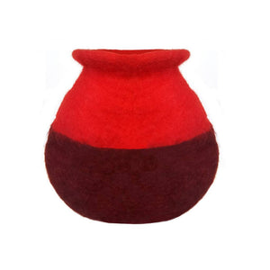 Red Felt Flower Vase - Hamro Village