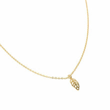 Load image into Gallery viewer, Necklace: 14k Gold Plated Leaf Pendant with Chain - Starfish Project