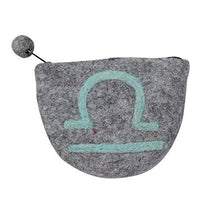 Load image into Gallery viewer, Felt Libra Zodiac Coin Purse - Global Groove