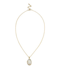 Load image into Gallery viewer, Rishima Druzy Drop Necklace - White - Matr Boomie (Jewelry)