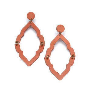 Nihira Ashram Window Earring - Red - Matr Boomie (Jewelry)