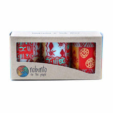 Load image into Gallery viewer, Hand Painted Candles in Owoduni Design (box of three) - Nobunto
