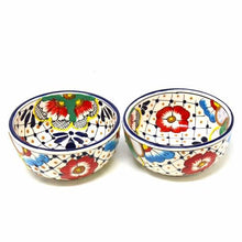Load image into Gallery viewer, Half Moon Bowls - Dots and Flowers, Set of Two - Encantada