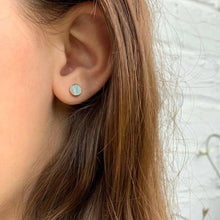 Load image into Gallery viewer, Rose Gold and Mother of Pearl Stud Earrings - Starfish Project