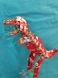 T-rex Recycled Can Figure