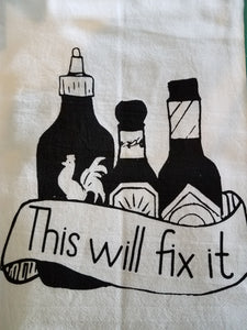 Tea Towel-Hot Sauce