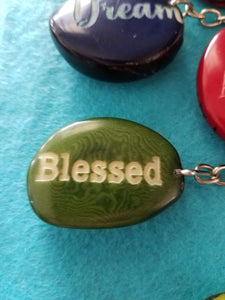 Blessed Tagua Seed Keychain