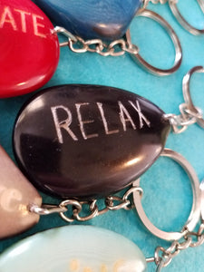 Relax Tagua Seed Keychain