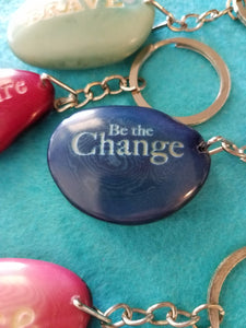 Be The Change Tagua Seed Keychain