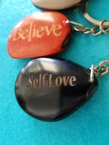Self Love Tagua Seed Keychain