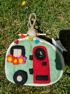 Retro Trailer Felt Birdhouse