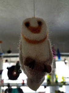 Barn Owl Felt Ornament
