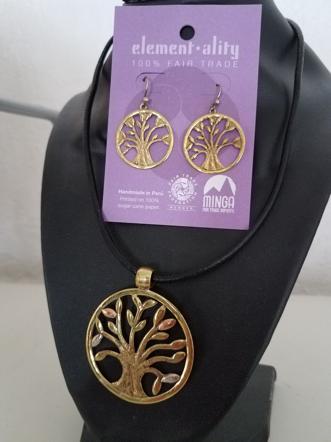 Tree Of Life Neckalce Earrings Set