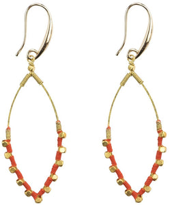 Earrings: Jane Tangerine - Marquet (J)
