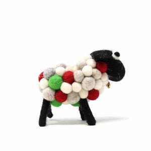 Christmas Sheep, Medium 20cm - Global Groove (H)