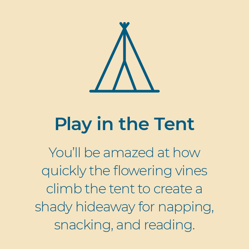 kids read a book or nap in backyard play tent bean teepee