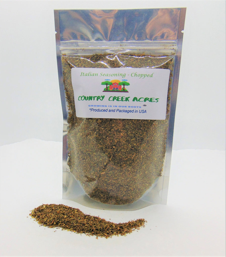 Chopped Italian Seasoning - an Aromatic All-Purpose Seasoning That can be Used for a Wide Variety of Dishes - Non-GMO - Country Creek Acres