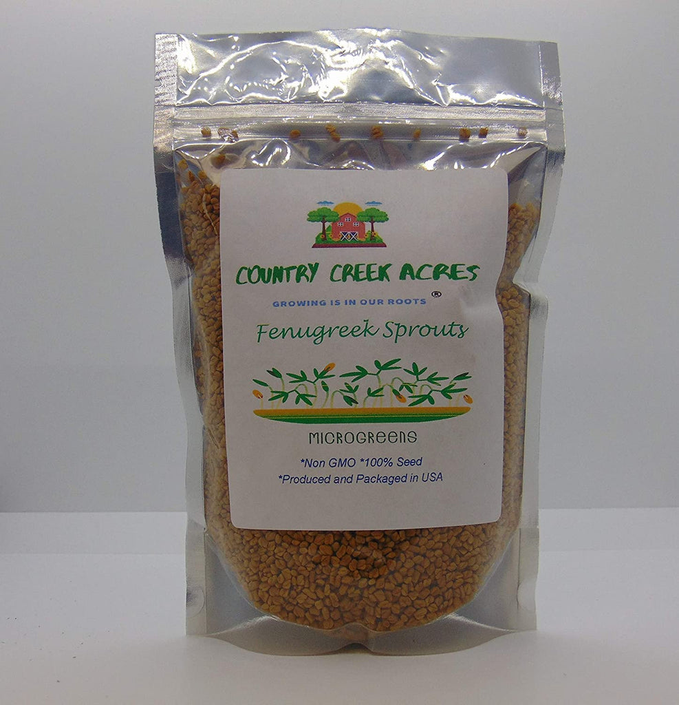 Fenugreek Sprouting Seed, Organic, Non GMO - Country Creek Acres Brand -