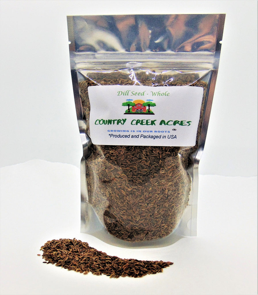 Whole Dill Seed Seasoning - An aromatic herb commonly used for pickling as well as for cooking - Country Creek LLC
