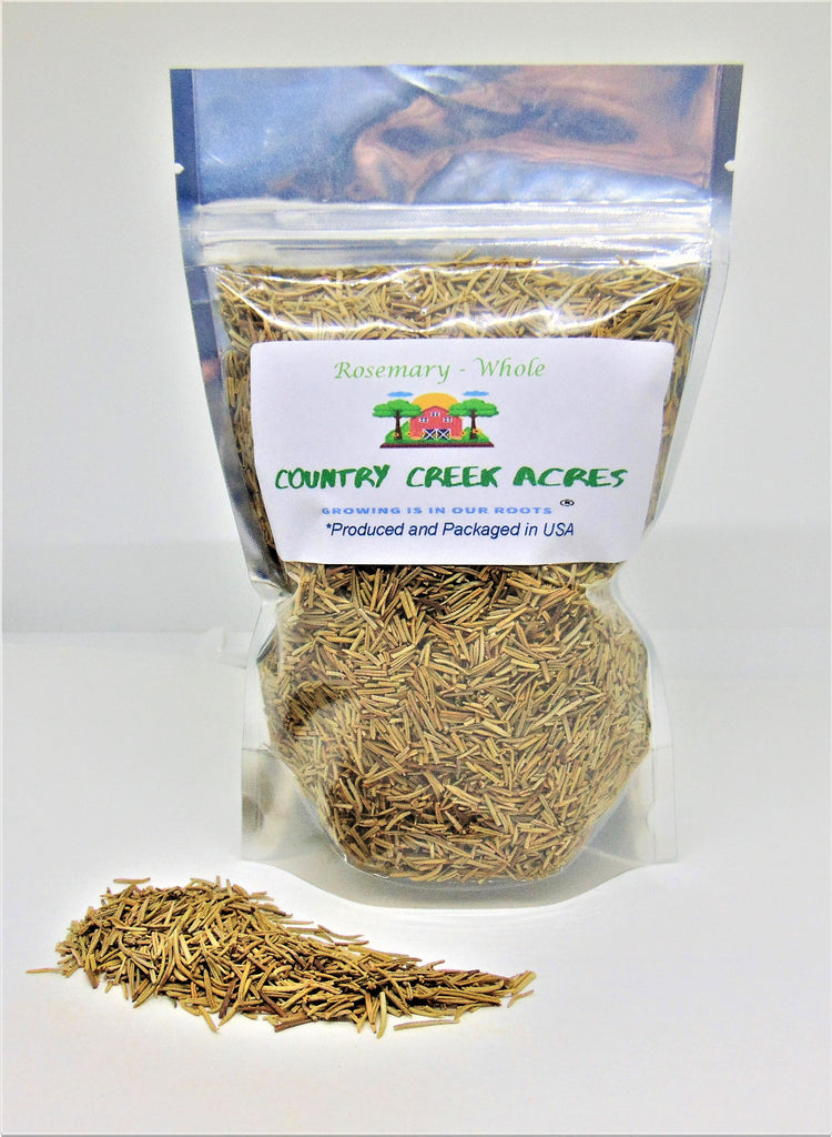 Whole Rosemary Seasoning - An Aromatic, Sweet, Nutty, Piney Flavor - Country Creek LLC