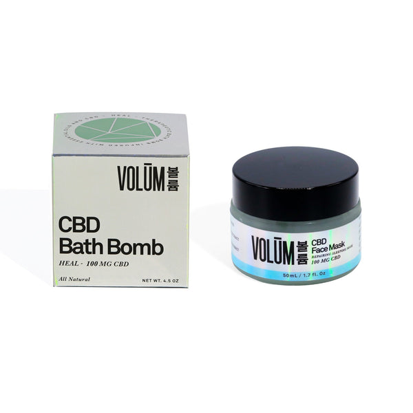 Repairing CBD Face Mask + CBD Bath Bomb - volumcbd