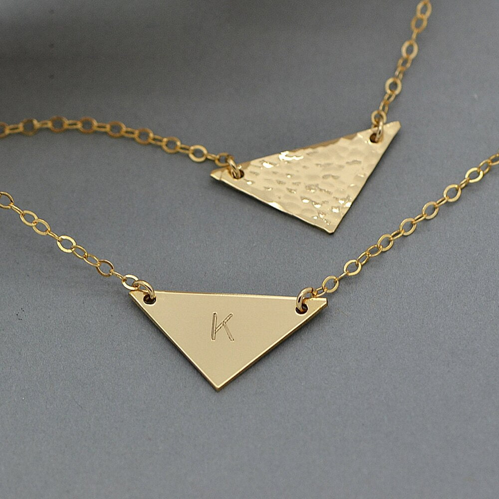 Customizable Handmade Triangle Necklace -Make the difference with Galatea Effect accesories
