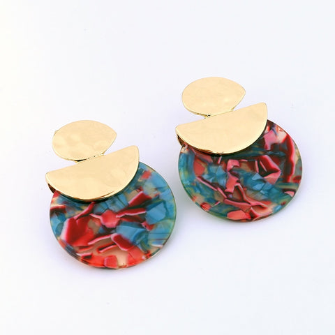 Aztec Round Earrings -Make the difference with Galatea Effect accesories