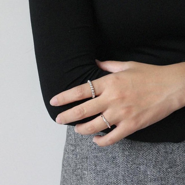 Silver Ball Ring -Make the difference with Galatea Effect accesories